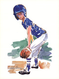 Little Fielder Posters by LeRoy Neiman