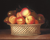 Bowl of Peaches Giclee Print by Raphaelle Peale