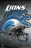 NFL: Detroit Lions- Helmet Logo Prints