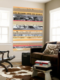 Paper Strip Collage A Wall Mural by Natasha Marie