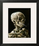 Head of a Skeleton with a Burning Cigarette Framed Giclee Print by Vincent van Gogh