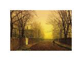 Golden Autumn Premium Giclee Print by John Atkinson Grimshaw