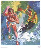 Olympic Skier and Runner Poster by LeRoy Neiman
