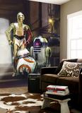Star Wars - Three Droids Vægplakat i tapetform
