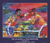 De La Hoya vs. Mayweather Print by LeRoy Neiman