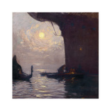 Venice in Moonlight Premium Giclee Print by Gaston La Touche