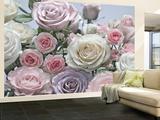 Roser Vægplakat i tapetform