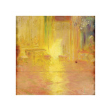 The Yellow Salon Premium Giclee Print by Gaston La Touche