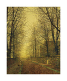 In Autumn's Golden Glow Premium Giclee Print by John Atkinson Grimshaw