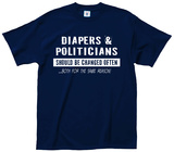 Diapers & Politicians T-shirts