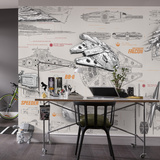 Star Wars - Blueprints Mural de papel pintado