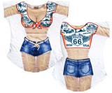 Route 66 Cover-Up (Front/Back) Vêtements