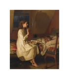Story of Golden Locks, c.1870 Premium Giclee Print by Seymour Joseph Guy
