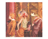 Three Prostitutes on the Street Affischer av Otto Dix