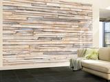 Whitewashed Wood Wandgemälde