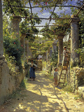 Pergola Harvest Giclee Print by Peder Monsted