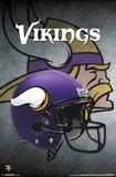 NFL: Minnesota Vikings- Helmet Logo Pôsters