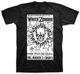 White Zombie- CBGB Poster T-shirts