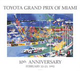 Toyota Grand Prix of Miami Posters by LeRoy Neiman