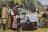 Wimbledon Tennis Party Giclee Print by Edward Brewtnall