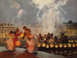 The Joyous Festival Giclee Print by Gaston La Touche