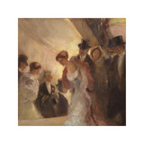 At the Opera Premium Giclee Print by Gaston La Touche