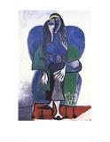 Femme Assise A L'echarpe Verde Poster von Pablo Picasso