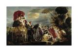 The Meeting of Odysseus and Nausicaa Premium Giclee Print by Jacob Jordaens