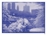 New York City In Winter IX In Colour Giclee Print by  British Pathe