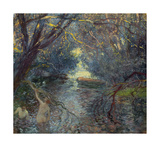 Bathers Premium Giclee Print by Gaston La Touche