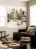 New York Waterfront B Wall Mural by GI ArtLab