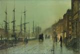 Glasgow Docks Giclee Print by John Atkinson Grimshaw
