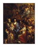 The Adoration of the Shepherds, 1657 Premium Giclee Print by Jacob Jordaens