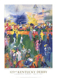 Derby Day Paddock- 123rd Kentucky Derby Prints by LeRoy Neiman