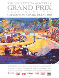 33rd Toyota Monterey Grand Prix Poster by LeRoy Neiman