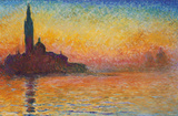 Claude Monet- San Giorgio Maggiore At Dusk Prints by Claude Monet