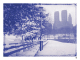 New York City In Winter VIII In Colour Giclee Print by  British Pathe