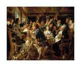 The Feast of the Bean King Premium Giclee Print by Jacob Jordaens