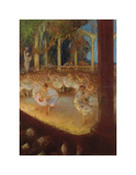 Ballerinas in the Theatre Premium Giclee Print by Gaston La Touche
