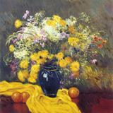 Malva - Still Life with Yellow - Giclee Baskı