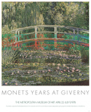 Water Lilies and Japanese Bridge Print by Claude Monet
