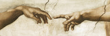 Creation of Adam - Focus Giclee Print by  Michelangelo
