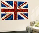 Drapeau britannique Reproduction murale par Stella Bradley