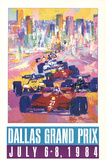 Dallas Grand Prix Prints by LeRoy Neiman