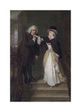 Dr. Johnson and Mrs Siddons in Bolt Court Premium Giclee Print by William Powell Frith