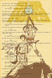Star Wars- Luke & Leia On Script Prints