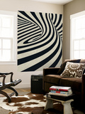 Black Swirls D Wall Mural by THE Studio