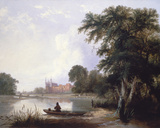 Fishing on the River Thames Near Eton College Giclee Print by Thomas Creswick