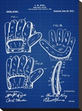 Baseball Glove, 1909-Blue II Stretched Canvas Print by Bill Cannon