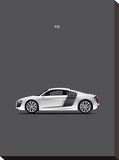 Audi R8 Stretched Canvas Print by Mark Rogan